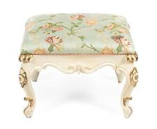 Louis Xv Style Painted and Gilded Tabouret, 19th Century