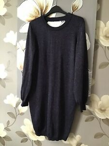 Blue Glitter Jumper Dress size 14 ♡ ♡  ♡ Worn Twice