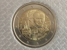 More details for vatican 🇻🇦coin 2€ euro bunc in folder 2020 100y anniversary john paul ii saint