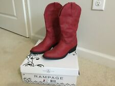 RAMPAGE WALDEN RED WESTERN BOOTS SIZE 7.5 VERY NICE!
