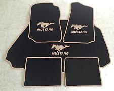 Autoteppich Fußmatten Kofferraum Set für Ford Mustang Cabrio 94-04 5tlg. beige