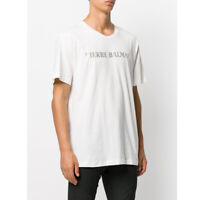 PIERRE BALMAIN MENS ICONIC CULT OFF-WHITE LOGOSHIRT LOGO SHIRT T-SHIRT TOP 50 L