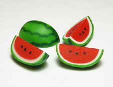 Set of 4 Dollhouse Miniature Watermelon Slices *Doll Mini Food Fruit Watermelons