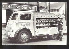 REAL PHOTO COCA COLA DELIVERY TRUCK DRIVER ADVERTISING POSTCARD COPY COKE