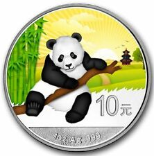 Panda 2014 China 10 Yuan Tag - Day 1 Unze Silber Farbe - coloured BU