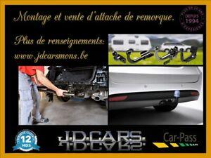 Montage et vente d'attache de remorque tous types de véhicule.