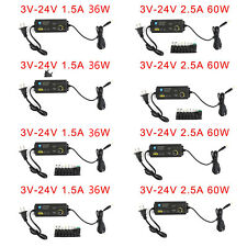 Adjustable Voltage 3 24v Power Supply Adapter Acdc Switch With Led Display Us