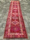 """Turkish Wool Runner, Vintage Hand Knotted Soft 11'9"""" x 2'10"""", FREE SHIPPING!"""