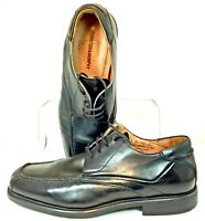 Johnston Murphy Oxford Mens Size 9.5M Black Leather Bicycle Apron Toe Shoe Italy