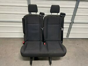 "2015-2020 Ford Transit OEM Seat Charcoal Black Cloth; 36"" Dual Passenger"