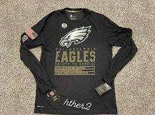 2020 Philadelphia Eagles Nike Salute to Service Dri-Fit Long Sleeve Shirt L - 3X