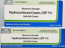 Hydrocortisone 1% Cream Maximum Strength Anti-Itch 1oz Tube -Exp 02-2021