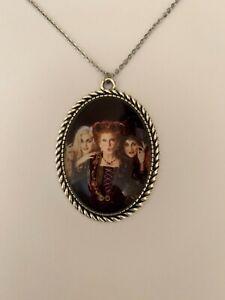 Hocus Pocus silver necklace retro vintage Disney Halloween witches gothic retro