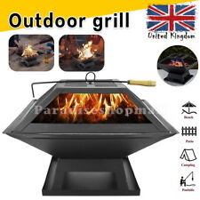 More details for fire pit garden brazier heater barbecue bbq grill stove camping charcoal outdoor