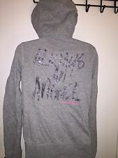 Victoria's Secret Medium Gray Super Model Always An Angel Hoodie GUC