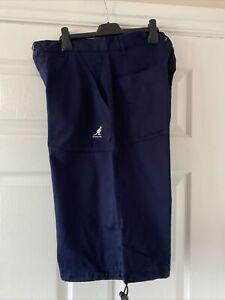 New Mens Navy Kangol  Long Shorts  Size  Medium  32 inches