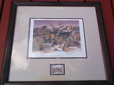 nef No Place to Hide Signed Numbered Print Gary Swanson 7494/10000 1998 NRA