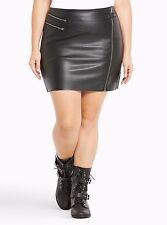 Torrid Faux Leather Zipper Mini Skirt Black 0X Large 12 0 #97393