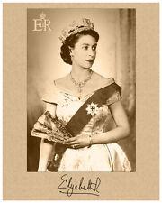 QUEEN ELIZABETH II Autograph Photograph Young Quality Restoration v2 8x10 RP