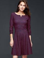GAP Stripe fit & flare dress NWT SZ 4 true indigo (1131A8)