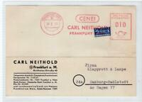 GERMANY: 1953 Commercial postcard with a BERLIN NOTOPFER stamp (C48378)