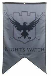 HBO Television Show Game Of Thrones Castle Black Night's Watch Gray Banner