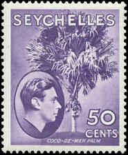 Seychelles Scott #141a Mint  Deep Reddish Violet
