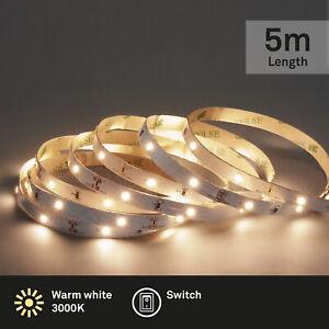 LED Band 5 Meter 150 x LED inkl. Schalter selbstklebend 14W Briloner Leuchten