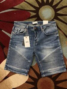 Las Mejores Ofertas En Pantalones Cortos De Mezclilla Zara Para Hombres Ebay