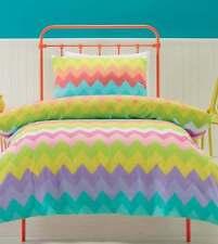GELATI PASTEL PINK YELLOW GREEN PURPLE ZIG ZAGS DOUBLE bed QUILT DOONA COVER SET