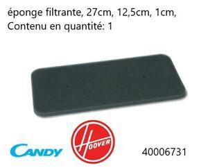 40006731  FILTRE EPONGE SECHE LINGE CANDY