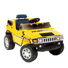 Kids Hummer H2 Childrens Yellow Ride-on Car Jeep Truck Toys Battery Childs Gifts