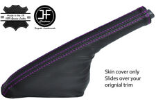 PURPLE STITCH CARBON FIBER VINYL HANDBRAKE FOR NISSAN 200SX S14 SILVIA 93-99