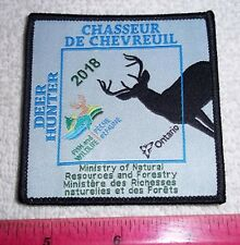 2018 ONTARIO MNR  DEER HUNTING PATCH moose bear elk hunter canadian patches dnr