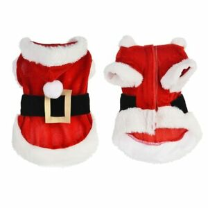 Santa Pet Dog Costume Christmas Clothes for Small Dogs Winter Puppy Clothing