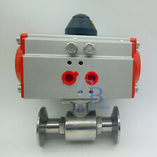 "3"" Sanitary Φ76 Tri-Clamp Ferrule Type Pneumatic Ball Valve Stainless Steel 304"