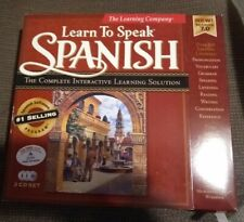 The Learning Company Learn to Speak Spanish 7.0 in original box