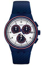 Swatch Originals Parabordo Blue Rubber Swiss Quartz Analog Dress Watch SUSN412