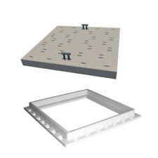 Chiusino coperchio con telaio pvc plastica grigio serie Ercole 70x70 - est 84x84