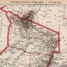 Oubangui-Chari  Tchad Afrique  - Carte ancienne 1938