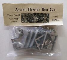 "Antique Drapery Rod Co. 1"" Square Metal Curtain Rod Rings.  Alunimun RIUQCA"