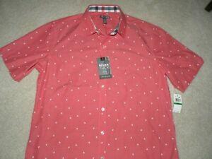 Van Heusen Slim Fit Never Tuck Men's SS Shirt Size 16-16.5 NWT