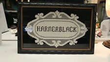 Victorian Trading Co HARNERBLACK Family Name Filet Crochet Lace Framed