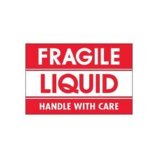 """""""Tape Logic Labels, """"""""Fragile - Liquid - Handle With Care, 2""""""""x3"""""""", 500/Roll"""""""