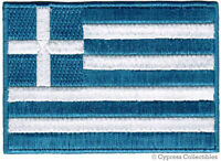 GREEK FLAG embroidered iron-on PATCH GREECE new EMBLEM HELLAS Hellenic Republic