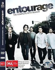 Entourage - Season 5 (DVD, 3 Disc Set) R4 Series *DAMAGED CASE*