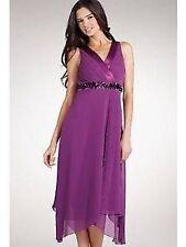 BNWT Purple Teatro Evening Floaty Dress Size 8
