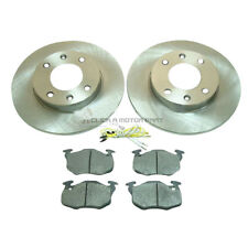 PEUGEOT 106 1.4 QUICKSILVER 1996-2003 FRONT  2 BRAKE DISCS AND PADS SET NEW