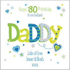 Personalised 30th Birthday card Daddy Dad Grandad Any Name/message