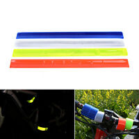 2 x Reflective Bands Leg Arm Strap Bike Bicycle Safety Pant Belt Glow New ATUP